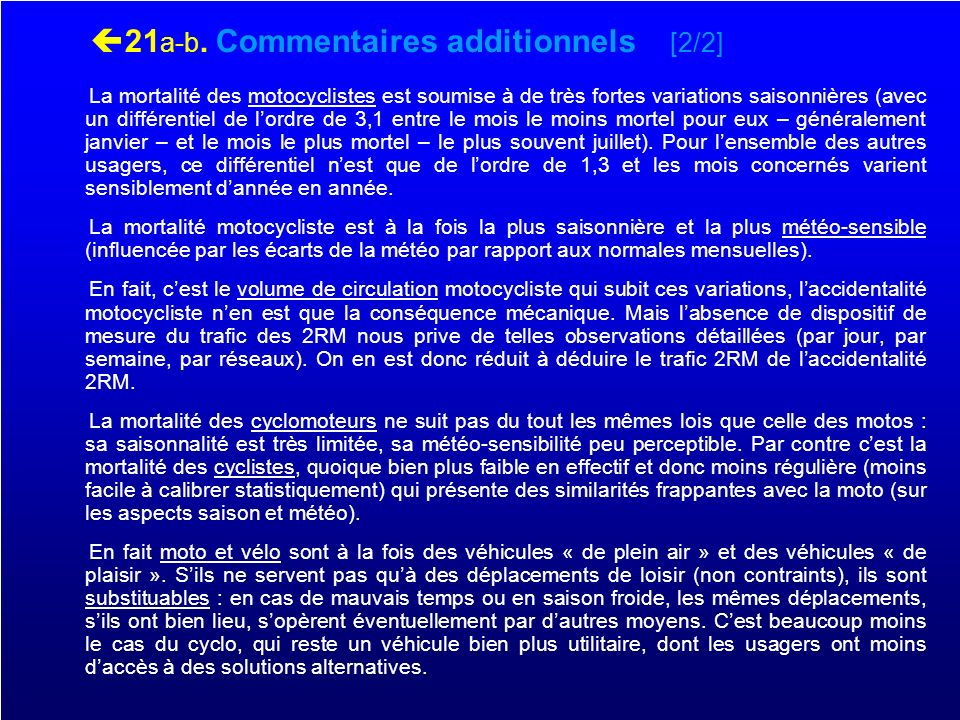 21a-b. Commentaires additionnels [2/2]
